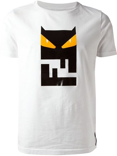 eaf3f306 FENDI Owl Logo Print T-Shirt 300usd | He should have... | Owl logo ...