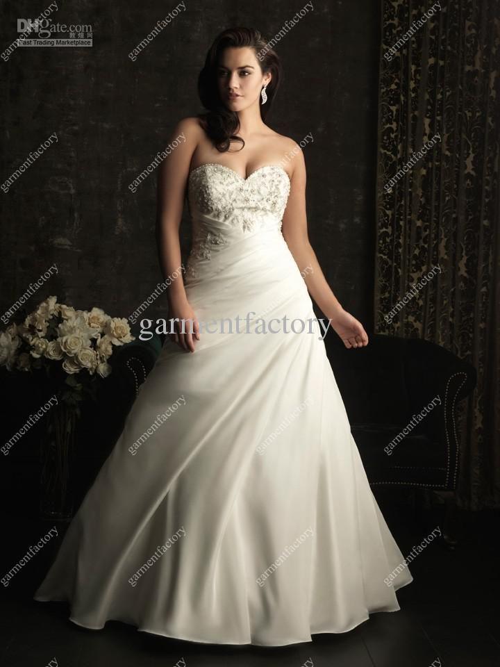 Plus Size Wedding Dresses 2013 Sweetheart Beaded Ivory Satin Ball
