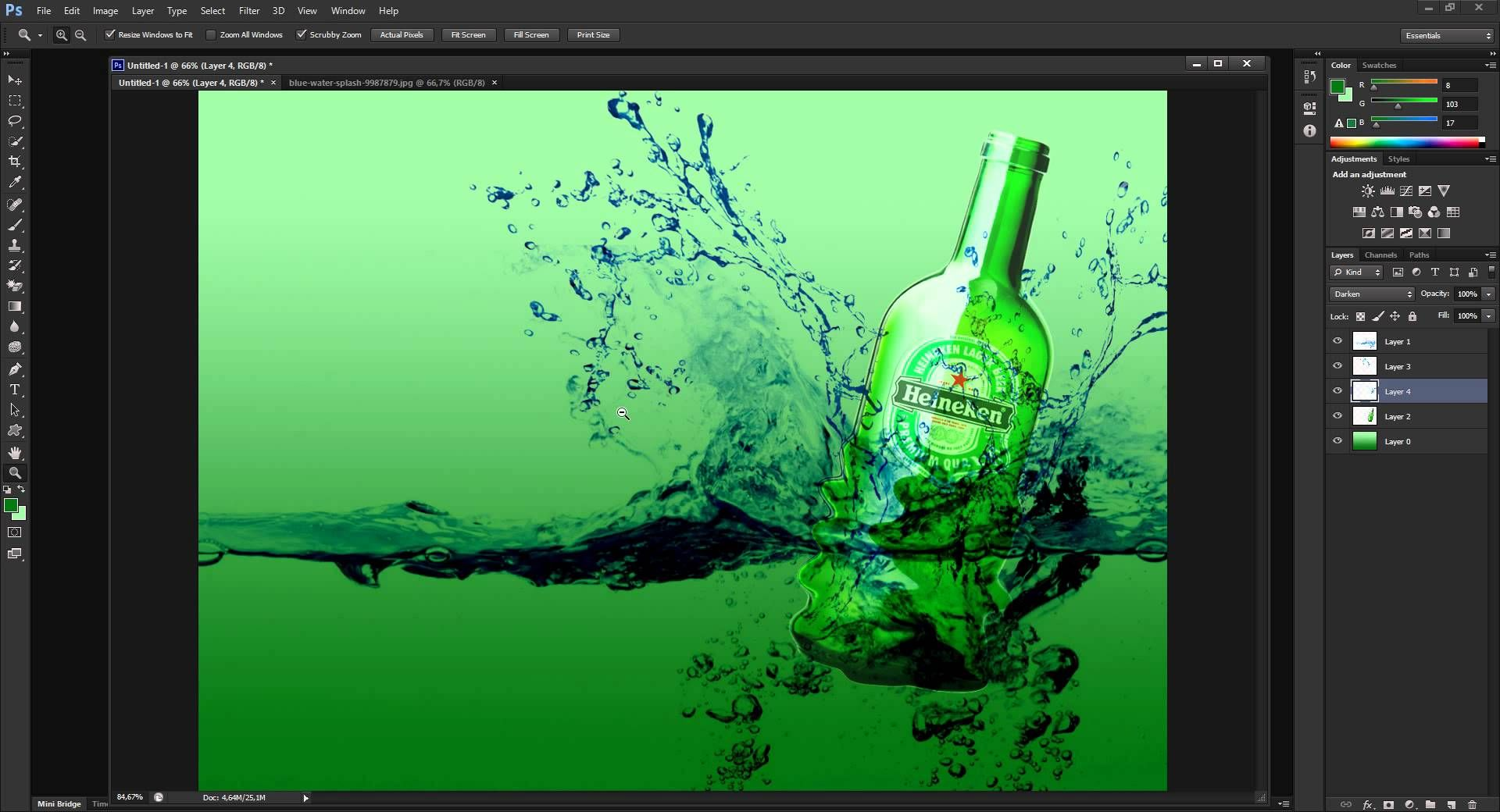 تصميم صورة احترافية للمشروبات بالفوتوشوب 1 Photoshop Cs6 Extended Photoshop Pandora Screenshot Enjoyment