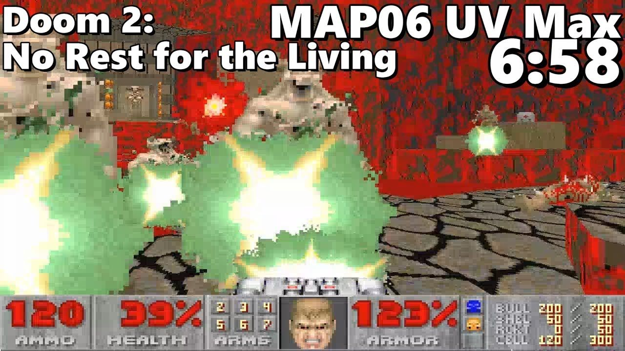 Doom 2 No Rest For The Living Map06 Inferno Of Blood Uv Max In 6