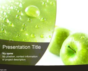 This is green apple powerpoint template a free ppt template with this is green apple powerpoint template a free ppt template with fruit image in the toneelgroepblik Images