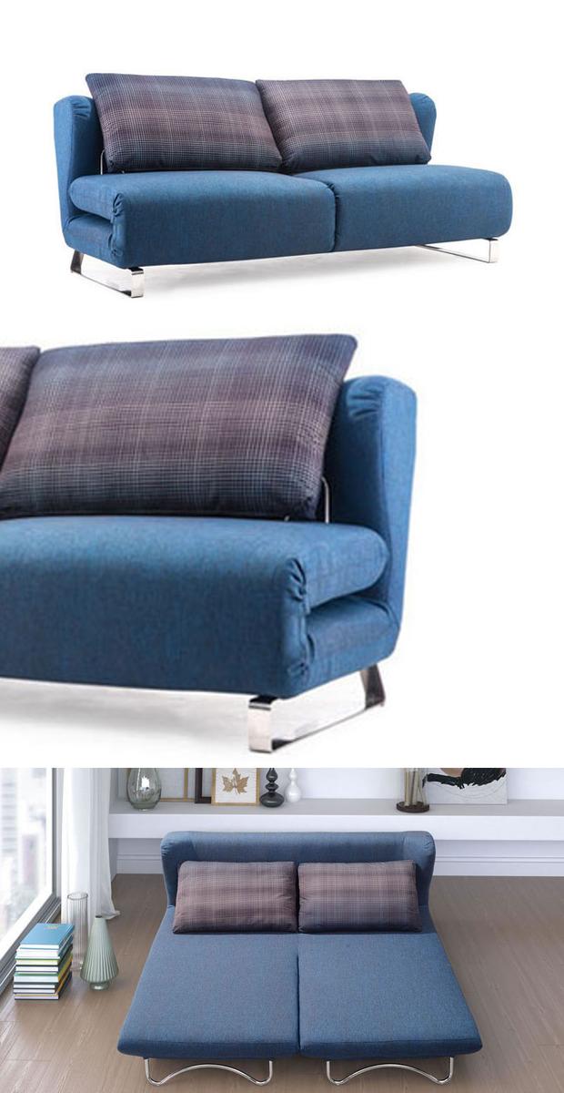 Sofa Sleeper in Blue   dotandbo.com