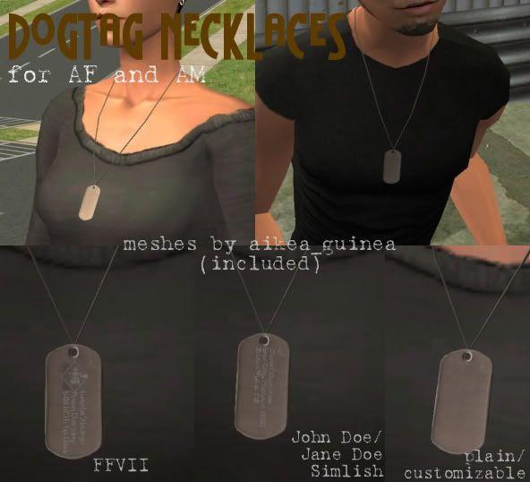 Military Dogtag Necklaces AM/AF redownload Dog tag necklace