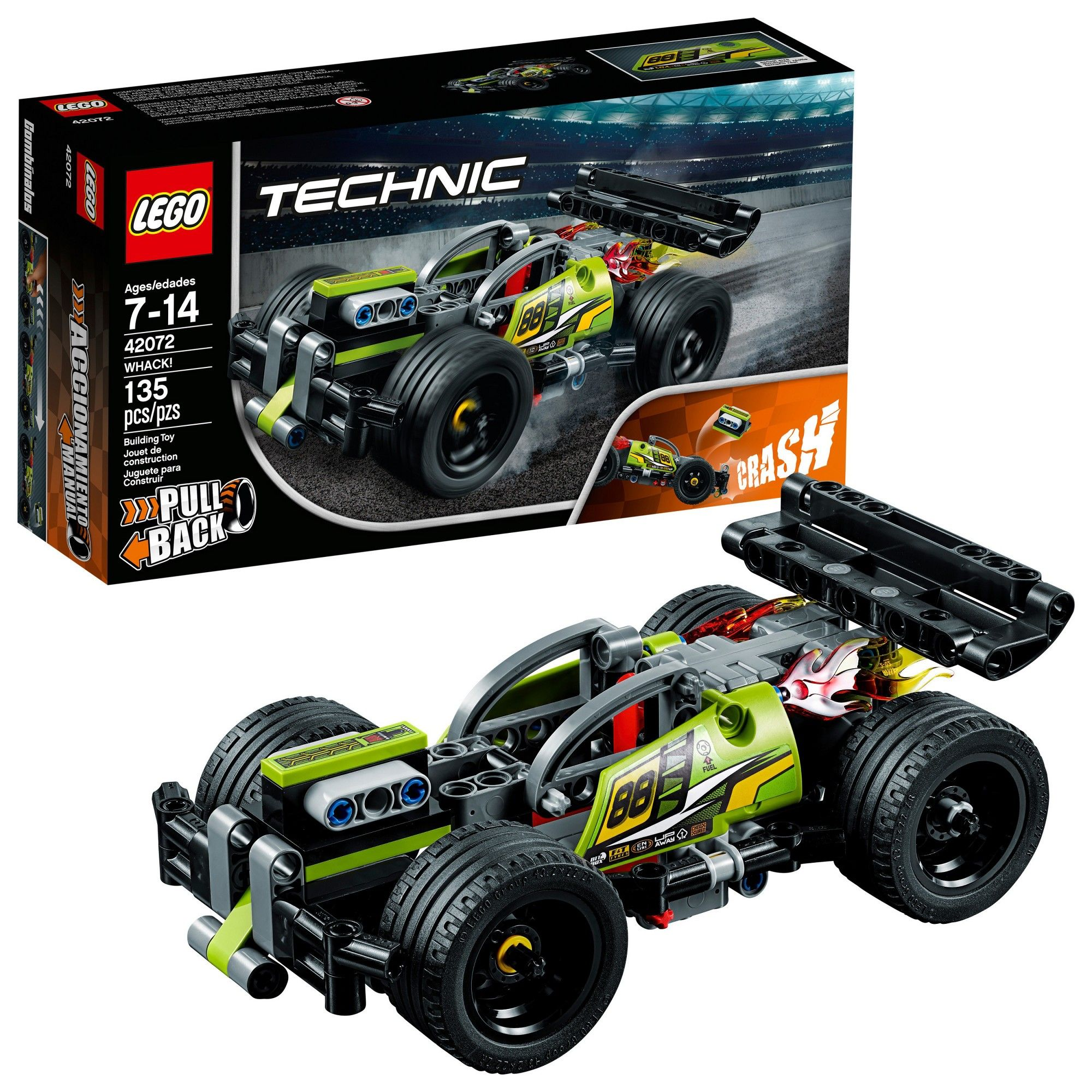 Lego Technic Whack Stem Stunt Racing Toy Car Building Kit For Creative Play 42072 Lego Technic Engineering Toys Building For Kids