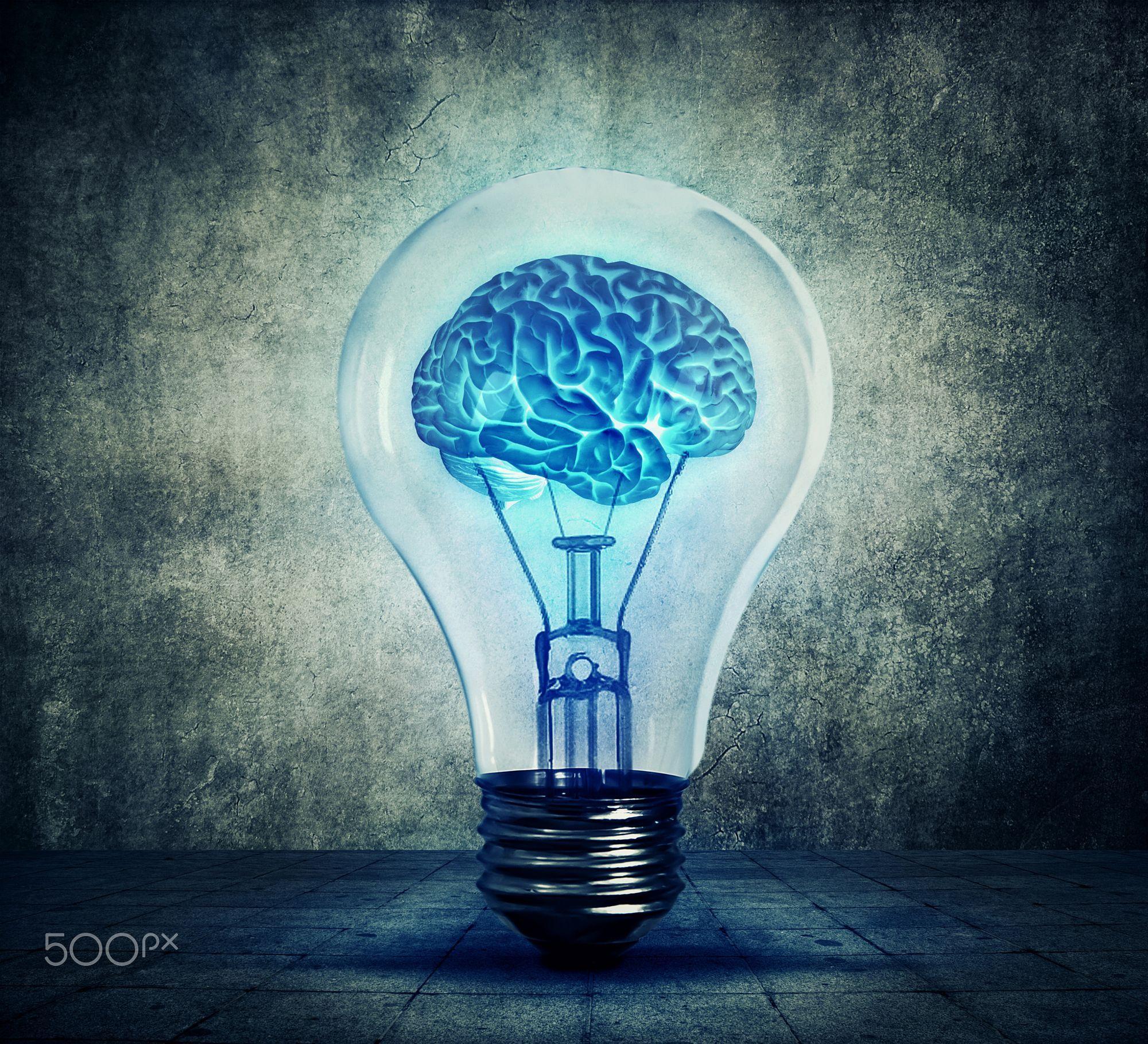 Lightbulb Brain By Psycho Shadow On 500px Light Bulb Art Brain Art Human Brain