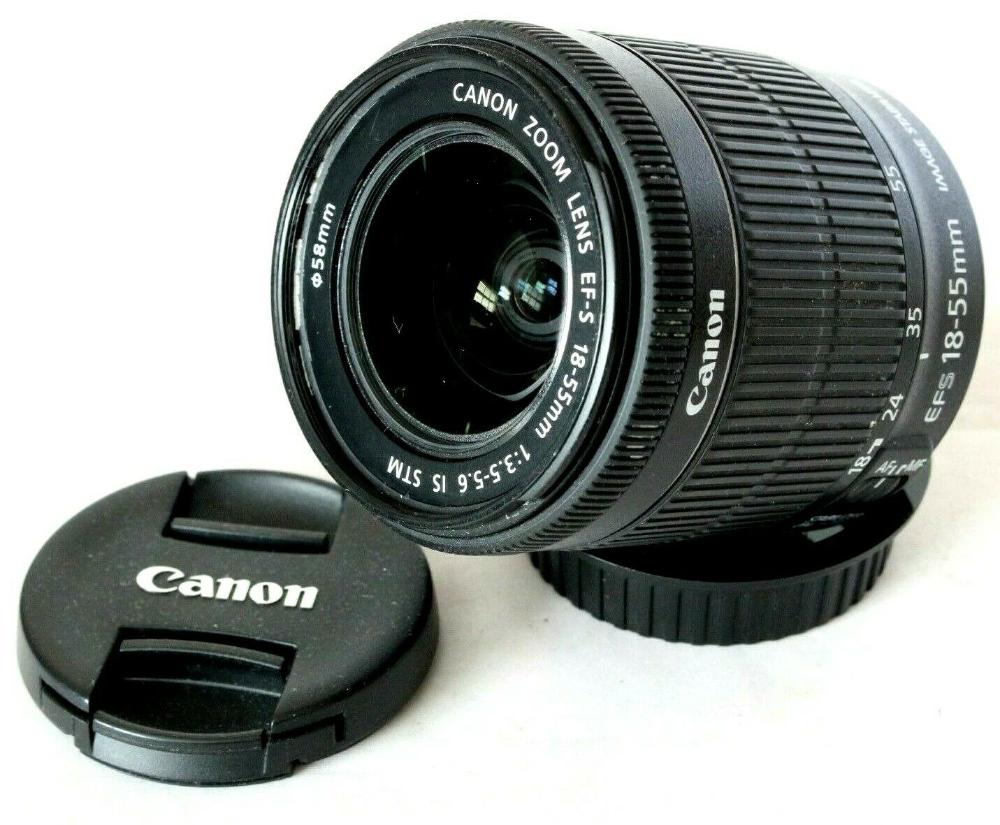 Canon Ef S 18 55mm Is Stm Silent Motor Movie Zoom Lens For Digital Slr Camera Ebay Camera Zoom Lens Digital Slr Camera Zoom Lens