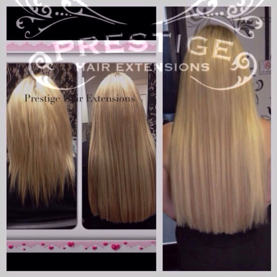 8 Week Maintenance On Double Drawn Prestige Hair Extensions Russian