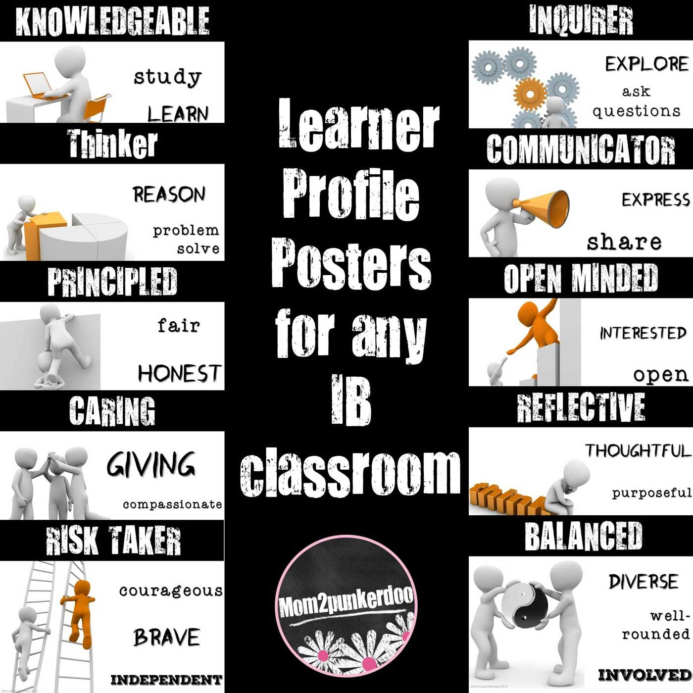 IB Learner Profile Posters for PYP | Ib learner profile, Learner ...