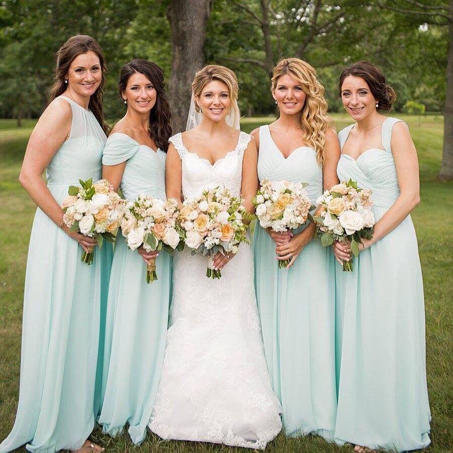63145ec9c50 Bill Levkoff Mint Bridesmaid Dresses