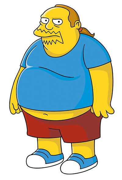 Comic book guy- loves comics and food
