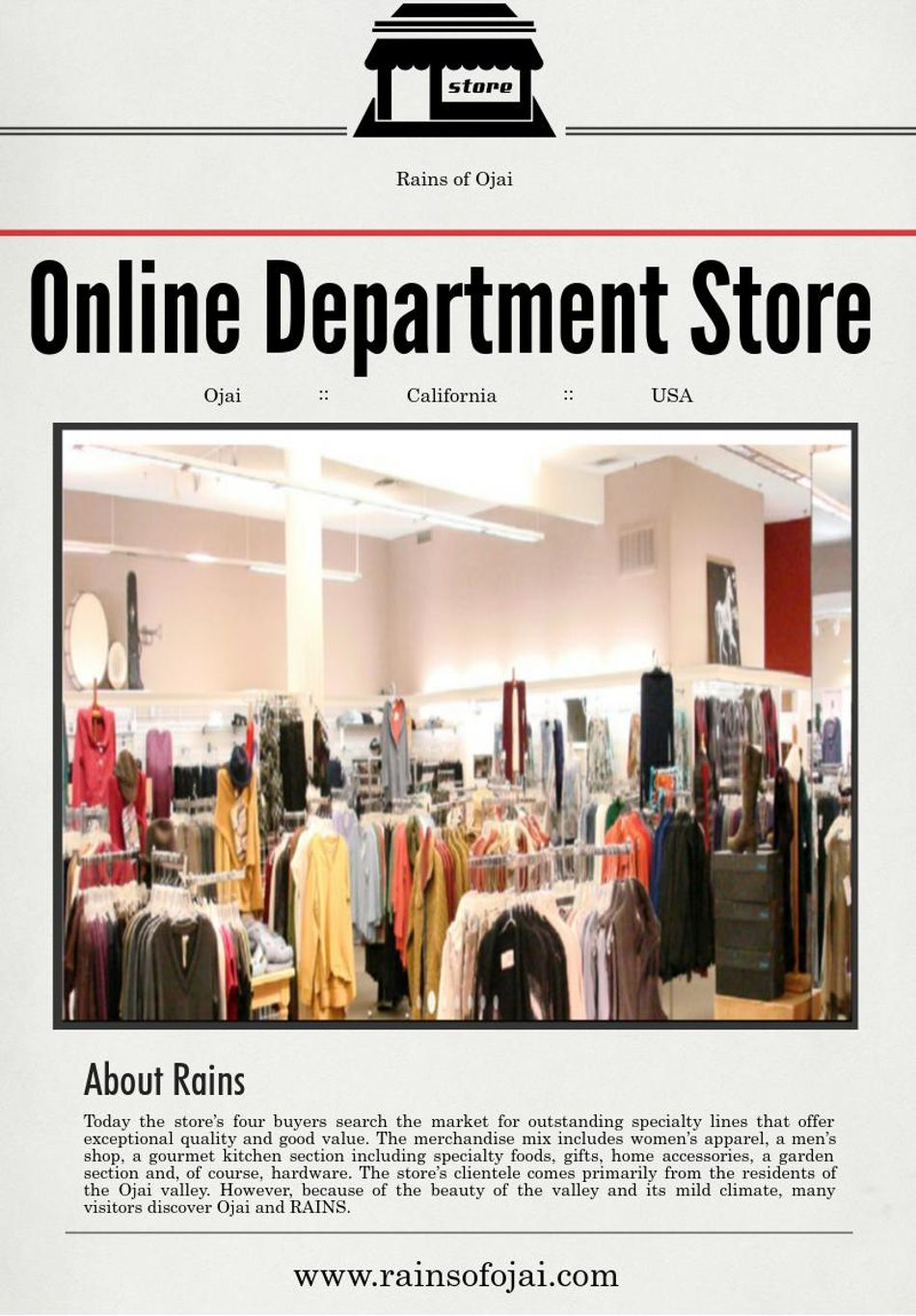 online department store california advantages of shopping at an