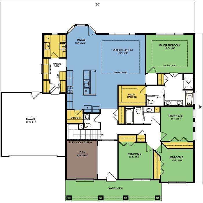 Floor Plan Preview 1 Wausau Homes Floor Plans House Floor Plans