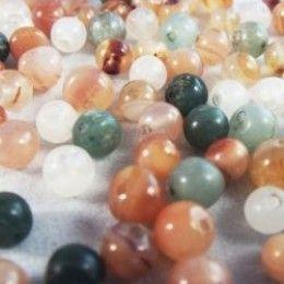 89 Small Round Glass Beads