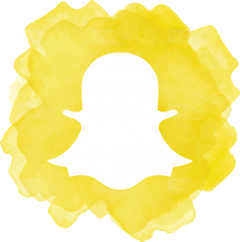Snap Chat Watercolor Social Media Icon Logo in 2020