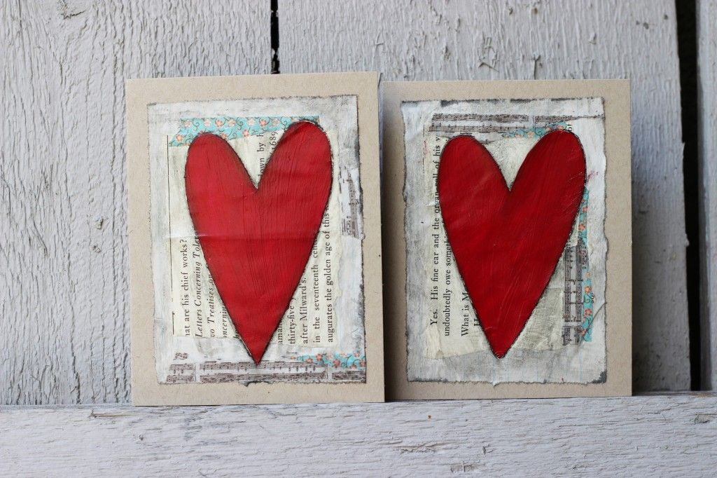 Rustic heart handmade blank card (With images)   Cards ...
