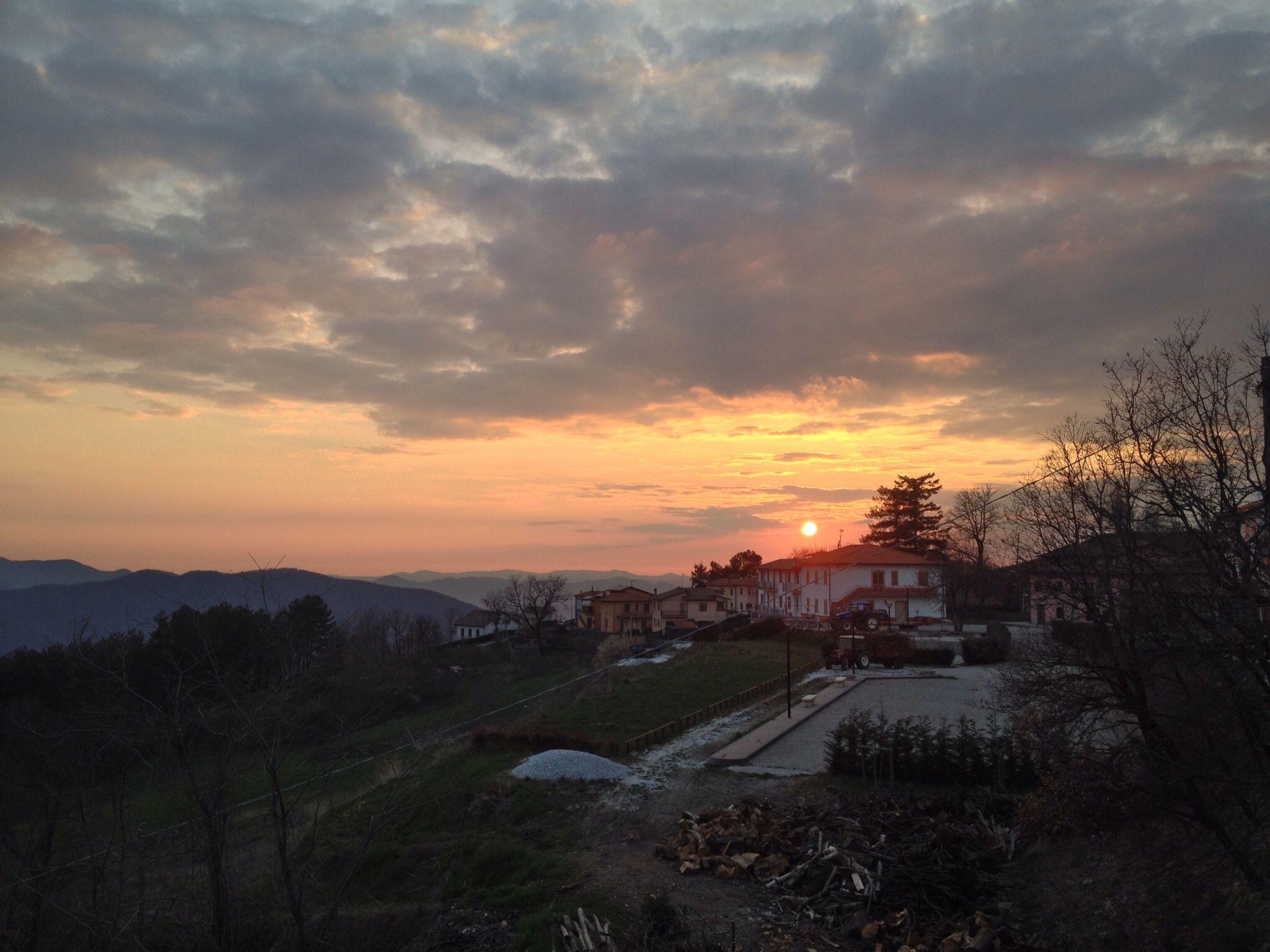 Tramonto in Garfagnana.