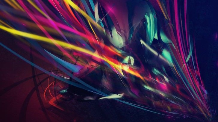 Abstract Multi Color Lines Wallpaper | Abstract HD
