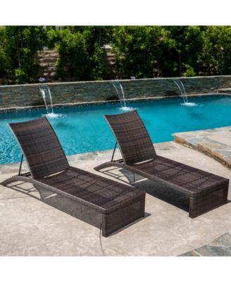 Furniture Frati Outdoor Chaise Lounges Set Of 2