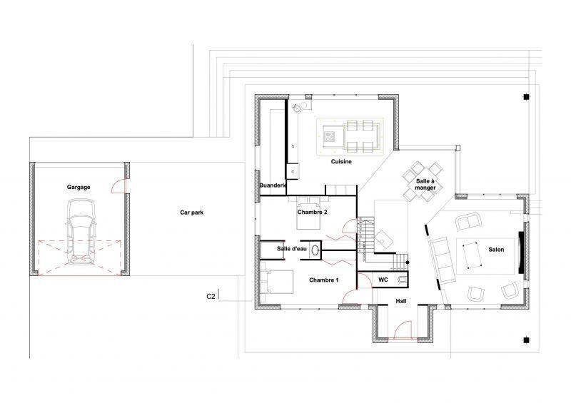 Villa contemporaine en étage avec car park maison Pinterest