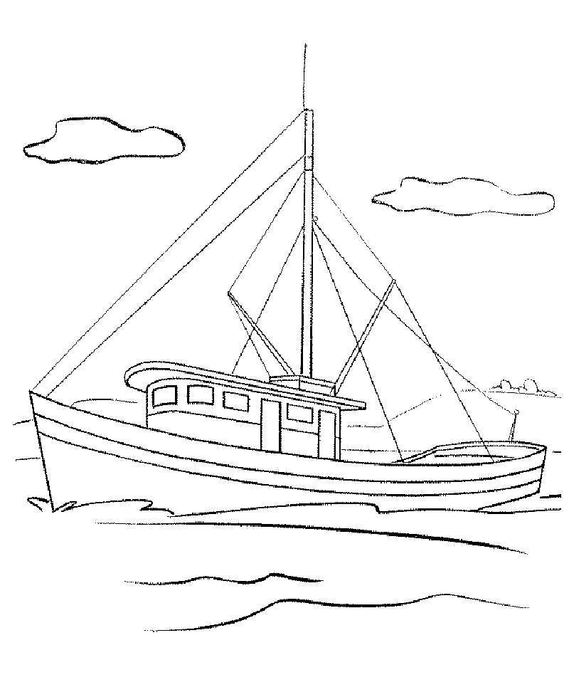 Printable Boat Coloring Pages Trout Fishing Gifts Fishing Boats Trout Fishing