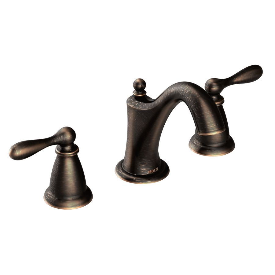 Moen Caldwell Mediterranean Bronze 2-Handle Widespread WaterSense ...