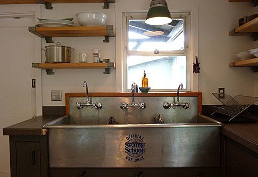 An Industrial Sink Is Very Practical As Well As Beautiful