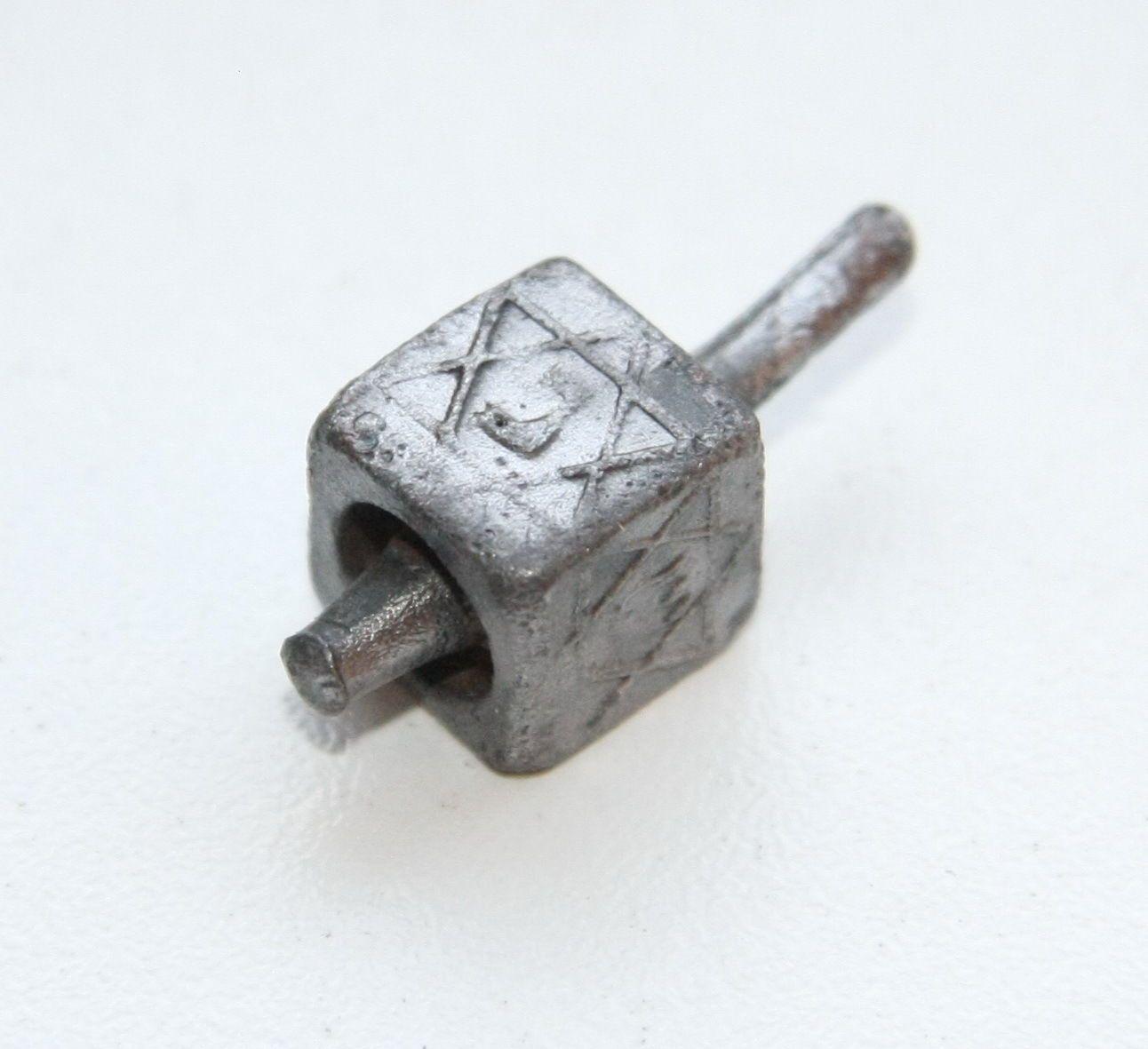 Antique Old Relic Bronze Lead Sevivon Judaica Hanukkah Dreidel ...