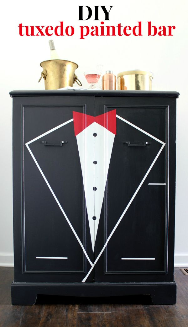 DIY Tuxedo Bar | Furniture Makeover, Furniture Painting Techniques And Paint  Bar
