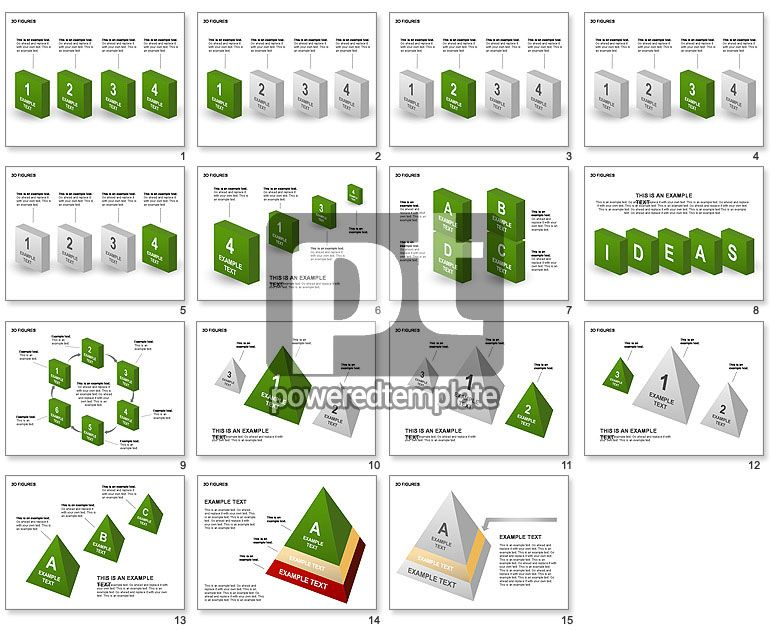 3D Objects | Powerpoint charts, Diagram chart ...