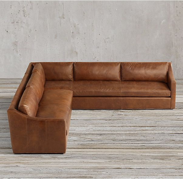 Petite Belgian Classic Slope Arm Leather Customizable Sectional Classic Home Decor Sectional Classic House