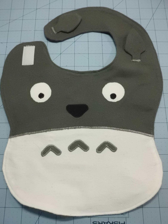 Totoro Baby Bib by AiTenshi on Etsy https://www.etsy.com/listing/182551772/totoro-baby-bib