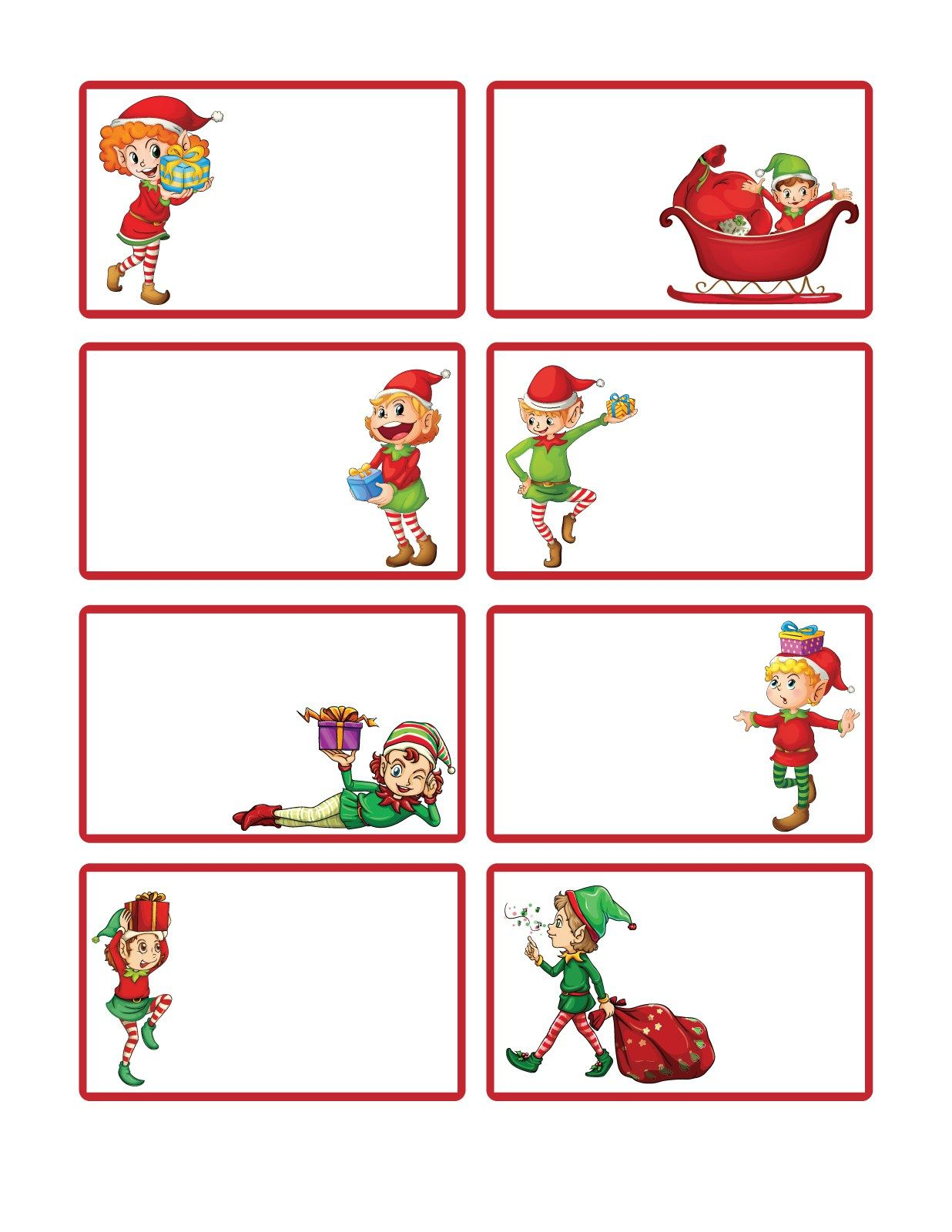 Letters from Santa presents Free Printable Christmas Gift