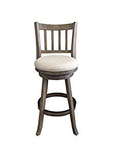 Amazon.com: Boraam 76329 Sheldon Barstool, 29-Inch, Driftwood Gray Wire-Brush and Ivory: Kitchen & Dining