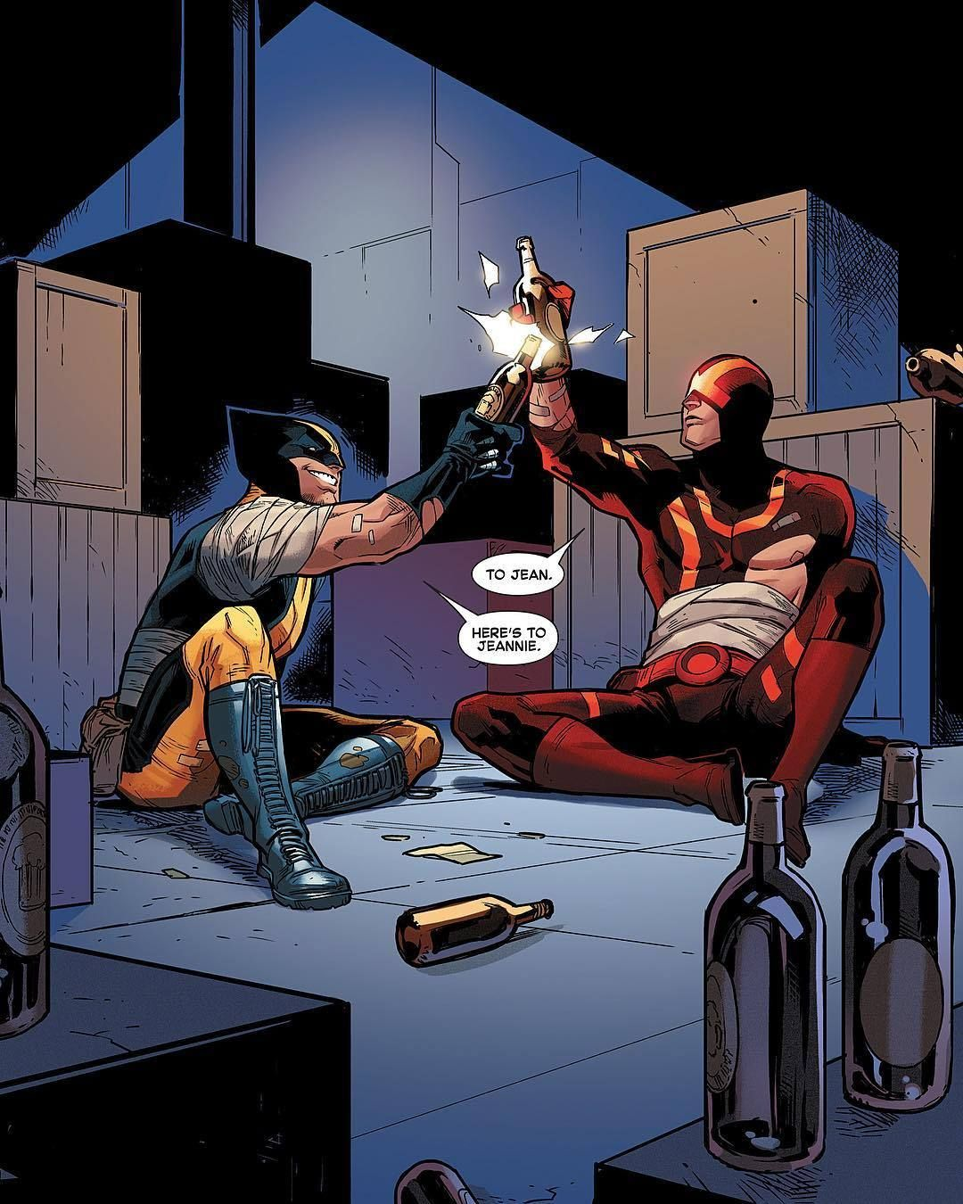 Heres To Jeannie To Bad These Two Will Not See Her Return Wolverine And The X Men Issue 40 Download Images At Nomoremuta Wolverine Marvel X Men Cyclops X Men