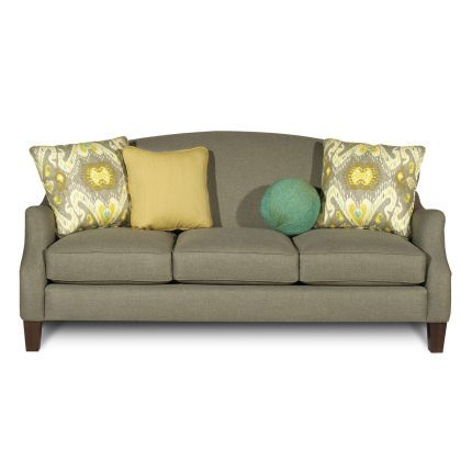 80 Inch Gray Upholstered Sofa With Images Craftmaster