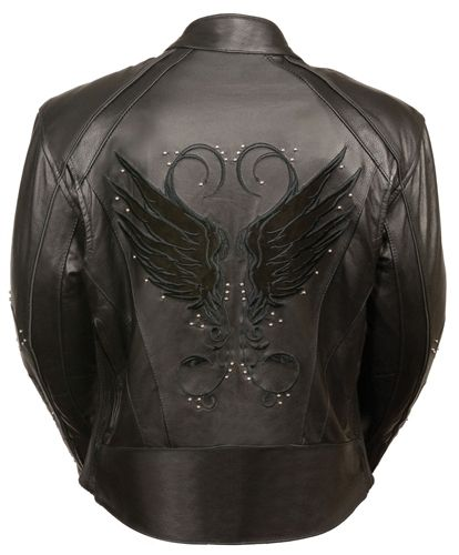 Women's Embroidered Milwaukee Leather Motorcycle Jacket