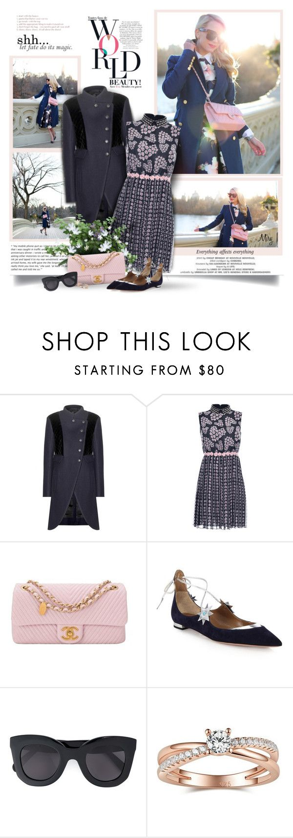 """""""Happy Sunday!"""" by thewondersoffashion ❤ liked on Polyvore featuring Marc by Marc Jacobs, Giamba, Chanel, Aquazzura, CÉLINE, women's clothing, women, female, woman and misses"""
