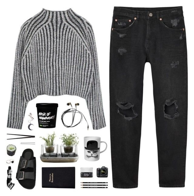 """""""{492}"""" by oliviarose-i ❤ liked on Polyvore featuring Monki, Nude, Leathersmith, Korres, Rory Dobner, Kill Star, CB2, Hershesons and Aesop"""