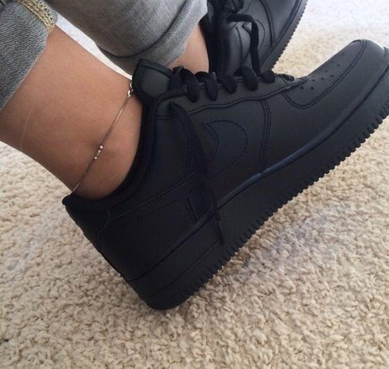 Shoes Nike Shoes Matte Black Nike Air Force 1 All Black Everything Black Nike Sneakers Nike Sneakers All Black Nike Shoes Black Nike Sneakers Black Nike Shoes