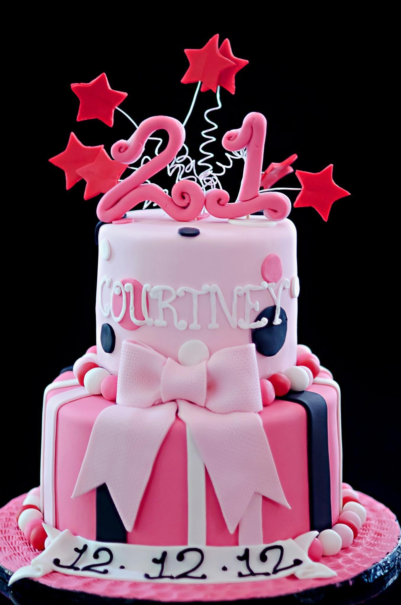 21st Birthday Cake Cool stuff Pinterest