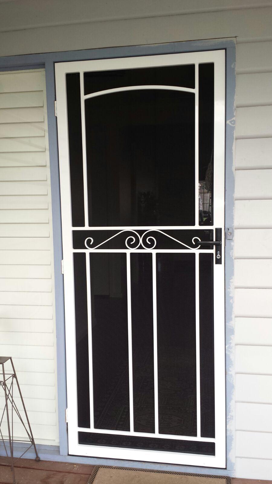 Steel Security Door With Stainless Steel Mesh Installed In Bentleigh Steel Security Doors Security Door Door Design