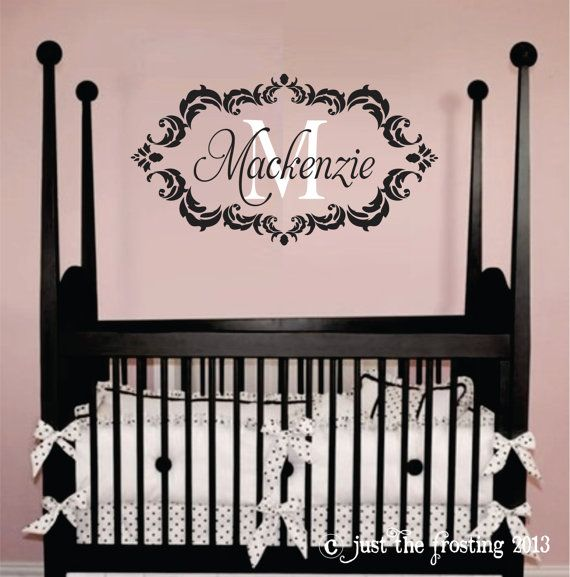 Childrens Decor Baby Nursery Wall Decal Personalized Monogram Vinyl Lettering 22