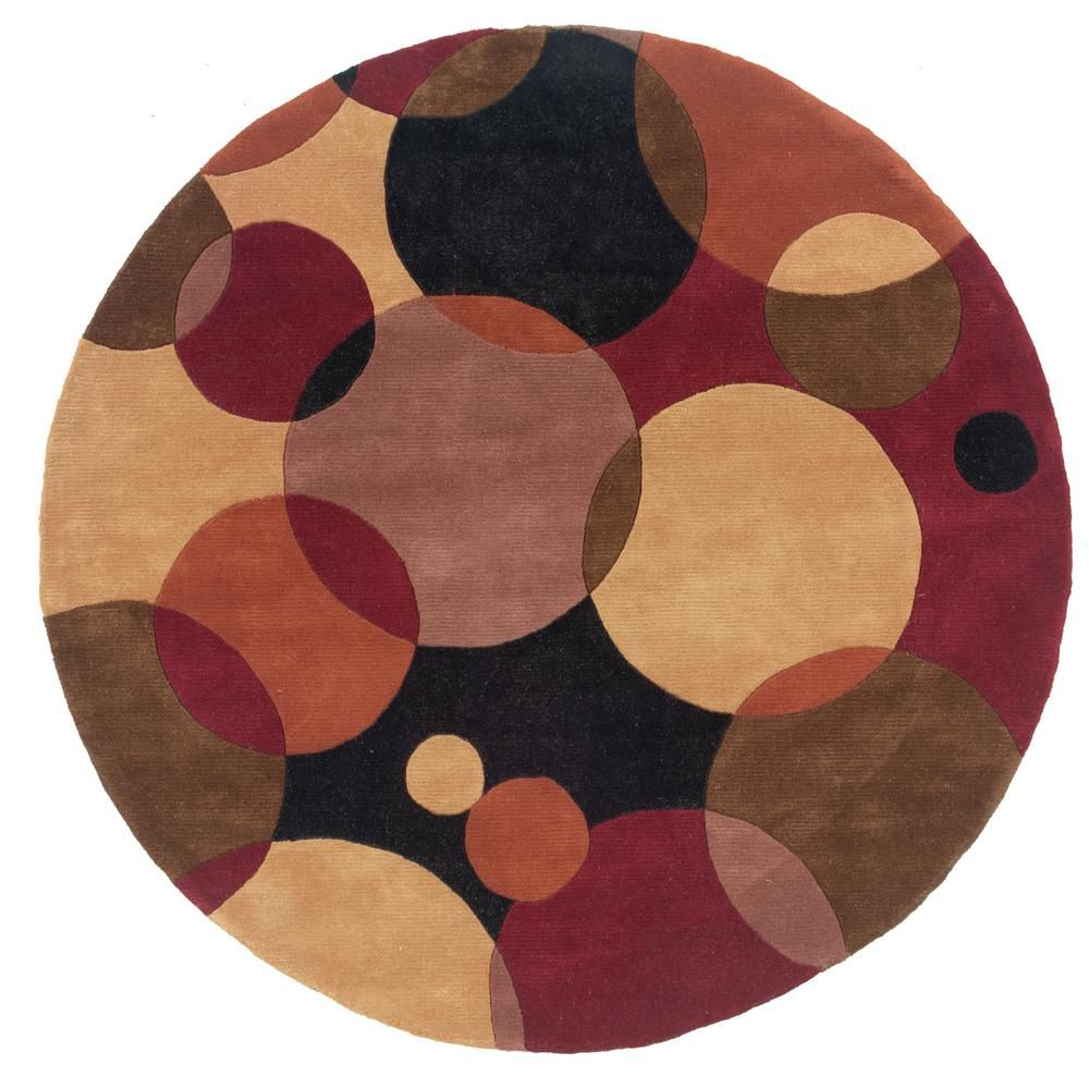 Contempo Black 7 Ft 9 In Round Area Rug