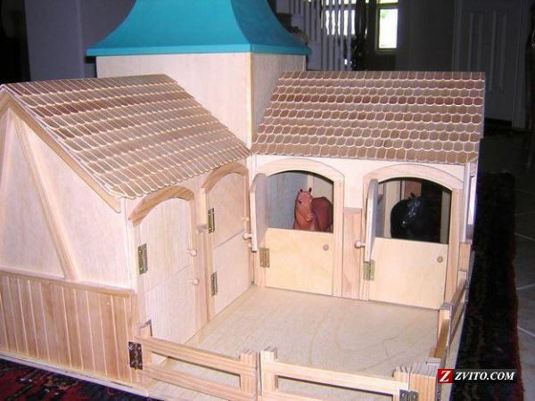 How To Build Toy Barns Real Wood Huge TOY Horse Barn