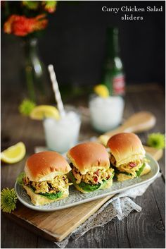 Curry Chicken Salad Sliders