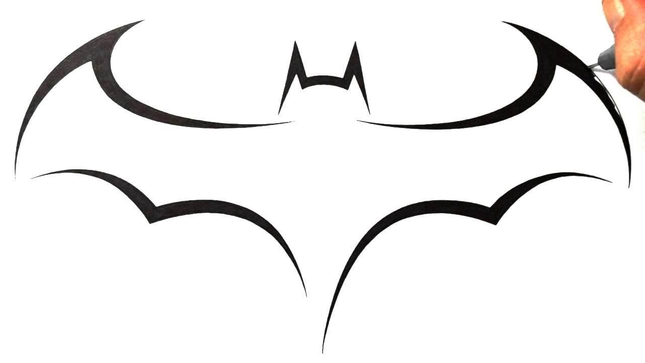 How To Draw Batman Logo Tribal Tattoo Design Style Batman Drawing Easy Tattoos To Draw Simple Tattoo Designs