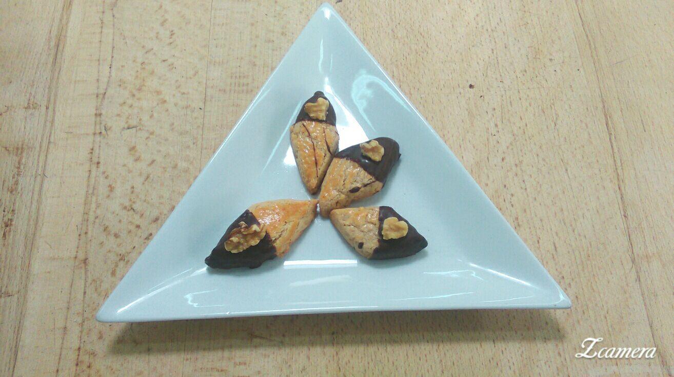 Rombos de nueces y chocolate