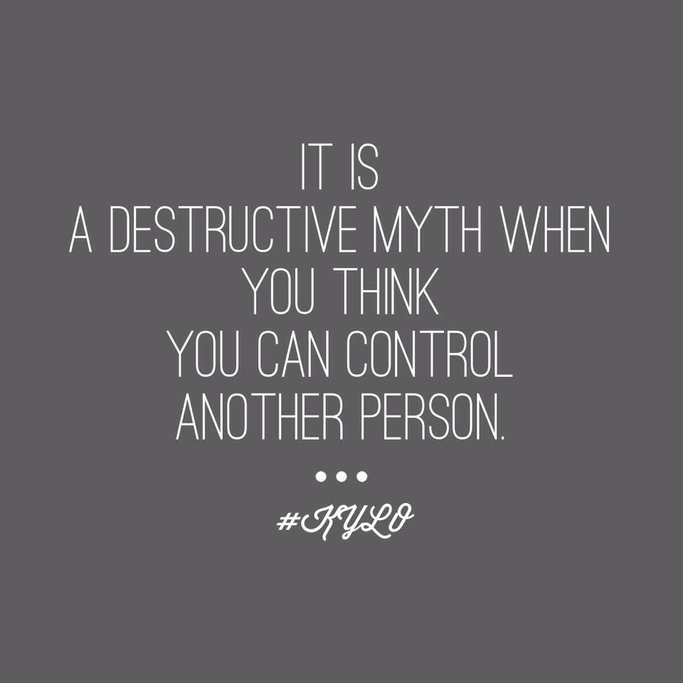 Cant control other people   Narcissistic personality