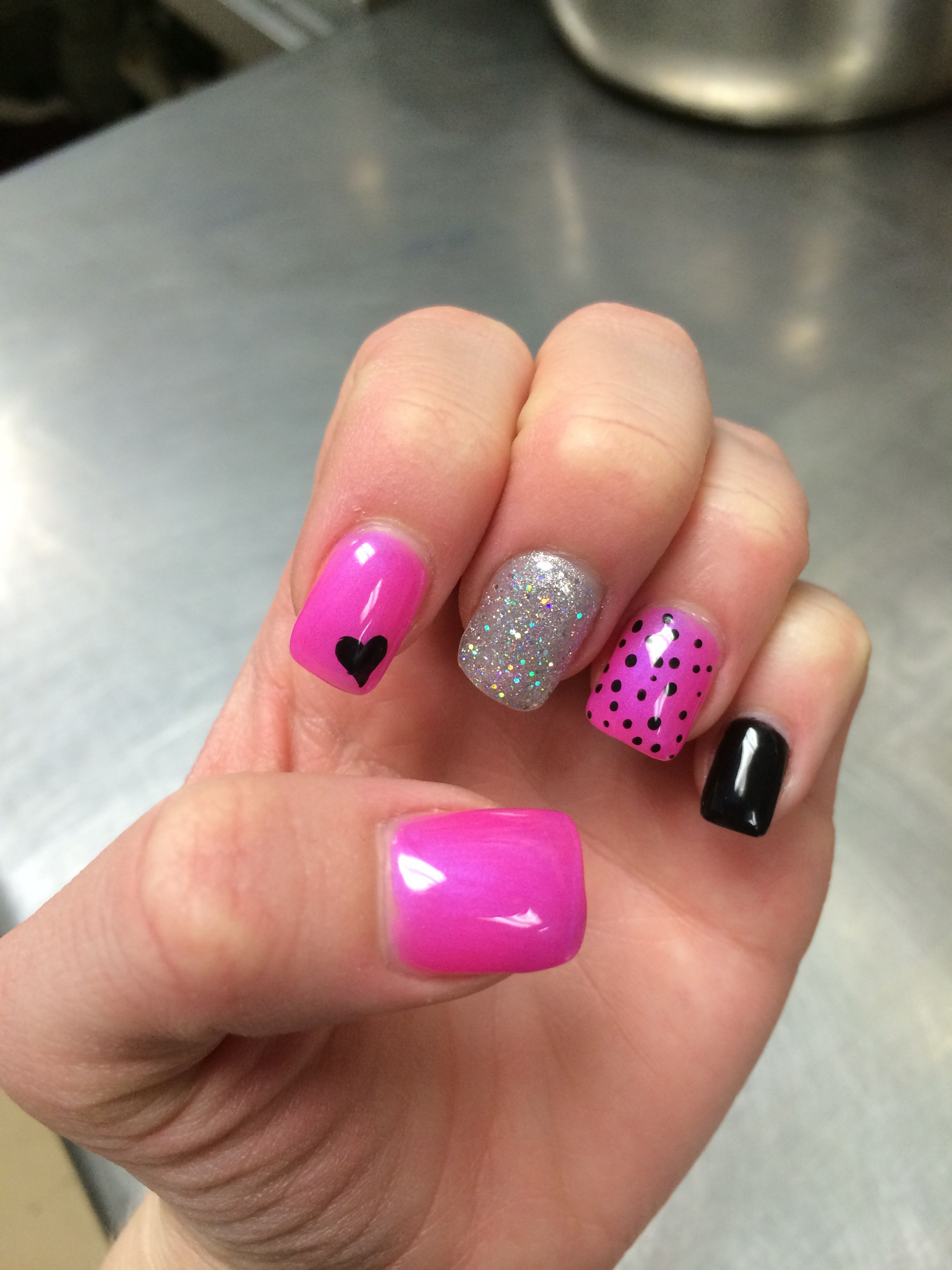 Nail Ideas | Diy Nails | Nail Designs | Nail Art Bright PINK creme ...