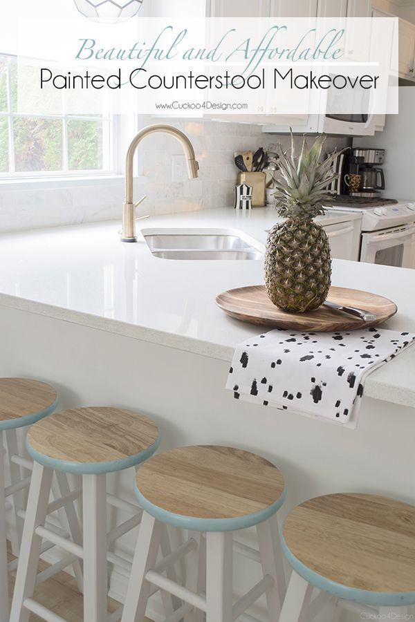 Wooden Counter Stool Makeover Furniture Makeovers Stool